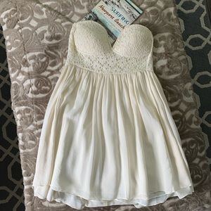 Millau Chiffon Mini Strapless Dress